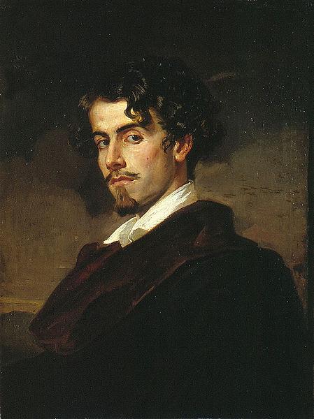 Gustavo Adolfo Bécquer, por Valeriano Bécquer, 1862