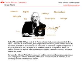 Página de Alberti en el Centro Virtual Cervantes