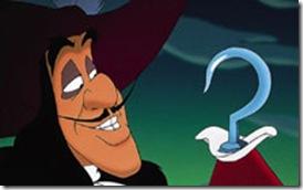 El capitán Garfio, en la película de Disney.