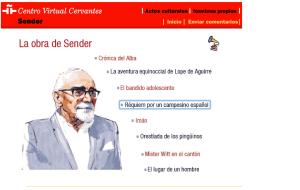 Sender en el Centro Virtual Cervantes