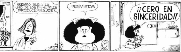 Mafalda cero en sinceridad
