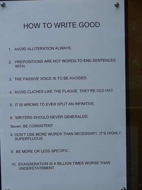 reglas de oro para escribir bien