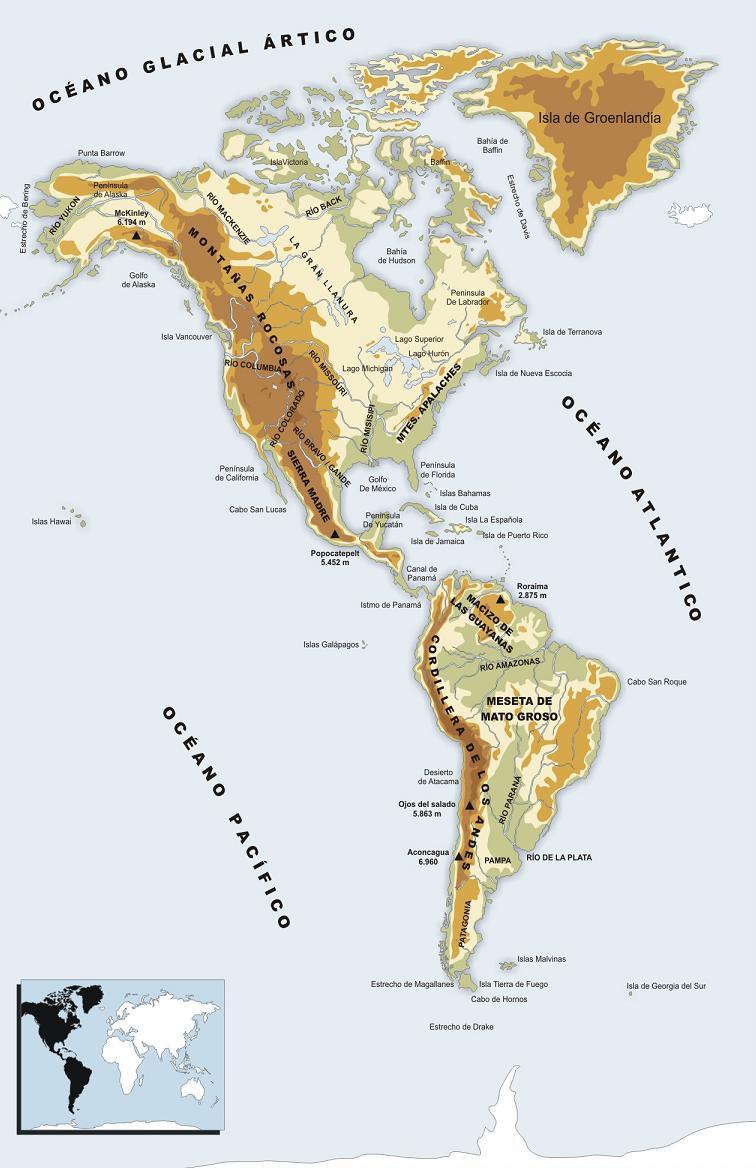 Mapa f sico de am rica tranquilaci n for De donde sacan el marmol