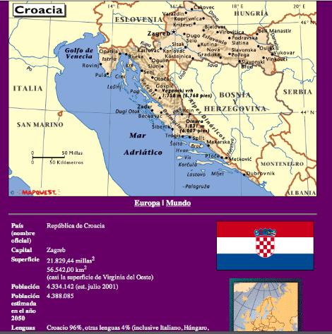 Por ejemplo, Croacia