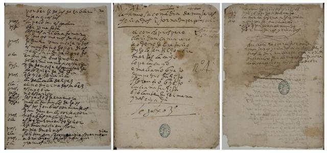 Manuscrito de Mujeres y criados
