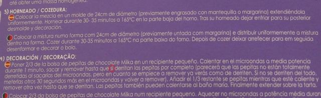 Rocío G. (4ºA) ha encontrado esta errata en el chocolate Milka