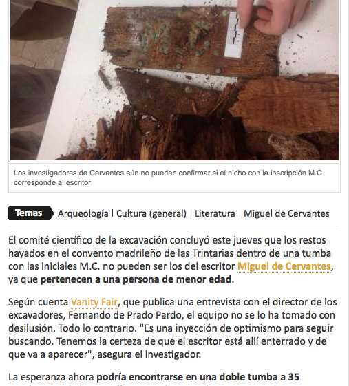 Los restos de Cervantes %22hayados%22