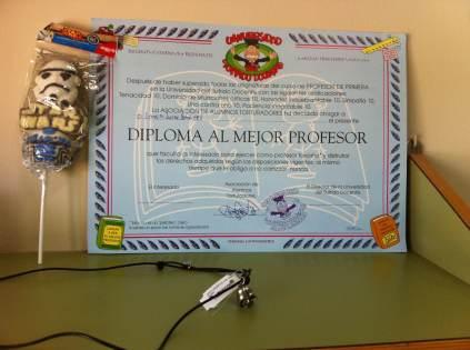 Muy merecido el título del diploma